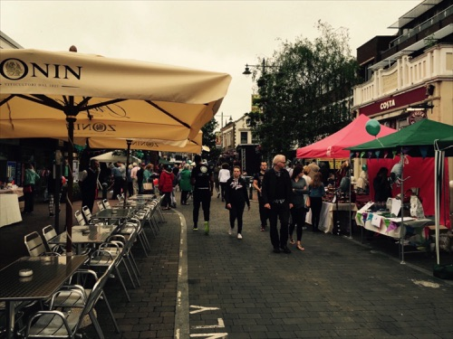 Some of the Stalls in Egham.