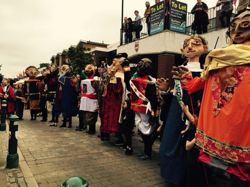 The Magna Carta Puppets Line Up.